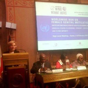 Hon. Emma Bonimo- NPWJ - Rome - Conference - FGM- Feb 5 - 2013