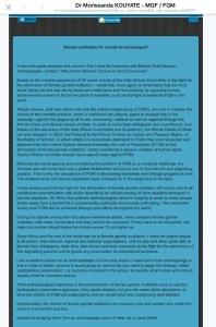 Dr. Morissanda Kouyate _IAC - response to The Atlantic Article _2015